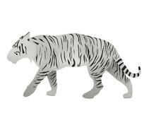 Weißer Bengal-Tiger vom Recyclingpapier lokalisiert auf Weiß Lizenzfreie Stockbilder