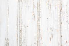 Weißer Beschaffenheitshintergrund der hölzernen alten Planke Lizenzfreie Stockfotografie
