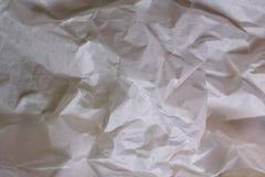 Weißer Beschaffenheitshintergrund Zerknittertes Papier stockfotografie