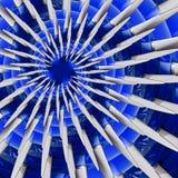 Weißer blauer Flugzeugluftschraube spirall Effektzusammenfassung Fractal-Musterhintergrund Flugzeugpropeller-Blätter Fractal AB d vektor abbildung