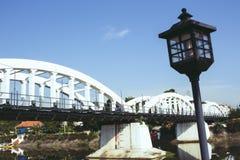 Weißer Brücke lampang Thailand-Reisefluß im Freien Lizenzfreie Stockfotografie