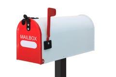 Weißer Briefkasten Stockbild
