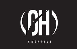 Weißer Buchstabe Logo Design Handhabung am Boden G H mit schwarzem Hintergrund vektor abbildung