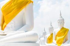 Weißer Buddha Stockfotografie