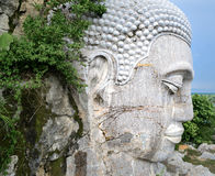 Weißer Buddha-Kopf Stockbild