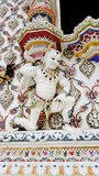 Weißer Dämonstuck der thailändischen Art an Pariwat-Tempel, Thailand Lizenzfreie Stockbilder