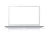 Weißer dünner Laptop Lizenzfreie Stockfotografie
