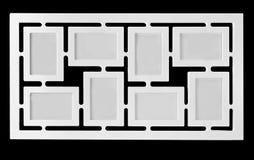 Weißer dekorativer Fotorahmen Multi Rahmensatz Lizenzfreie Stockfotos