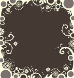 Weißer dekorativer Rand Stockfoto