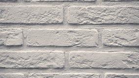 Weißer dekorativer Ziegelstein Pans Ihr Haus Maurerarbeithintergrund Einzigartiger Zeichenblock stock footage