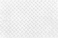 Weißer Diamond Plate Texture Background Lizenzfreie Stockbilder