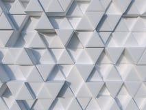 Weißer Dreieckhintergrund der Zusammenfassung 3d Lizenzfreies Stockfoto