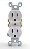 Weißer elektrischer Anschluss lizenzfreie stockbilder