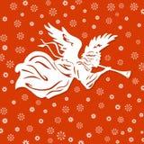 Weißer Engel und Schneeflocken Lizenzfreie Stockfotografie