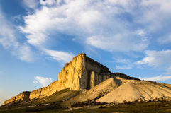 Weißer Felsen Stockfoto