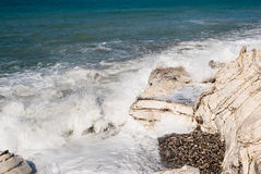Weißer Felsen auf dem Schwarzen Meer Lizenzfreies Stockfoto