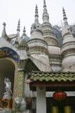 Weißer Felsentempel in Sichuan, Porzellan Lizenzfreie Stockfotografie