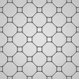 Weißer Fußboden mit verschiedenen Fliesen Stockfotografie