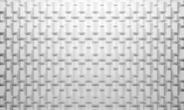 Weißer Geometriemusterhintergrund Stockbilder