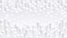Weißer geometrischer Blockhintergrund Lizenzfreie Stockfotografie
