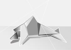 Weißer geometrischer Delphin Stockfoto