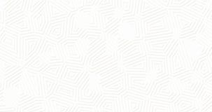 Weißer geometrischer Oberflächenmatthintergrund Gelegentliche abstrakte Linien geschlungene Bewegung der Formen lizenzfreie abbildung
