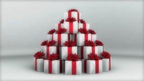 Weißer Geschenk-Hintergrund lizenzfreie abbildung