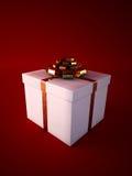 Weißer Geschenkkasten Stockfotografie
