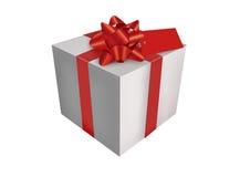 Weißer Geschenkkasten Lizenzfreie Stockfotos
