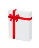 Weißer Geschenkkasten Stockbild