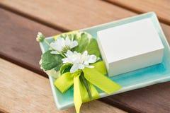 Weißer Geschenkkasten Stockbilder