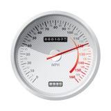 Weißer Geschwindigkeitsmesser Lizenzfreies Stockfoto