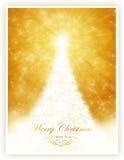 Weißer glänzender Weihnachtsbaum Lizenzfreie Stockfotos