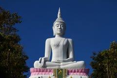 Weißer großer Buddha Lizenzfreies Stockfoto