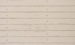 Weißer hölzerner Hintergrund an der schäbigen Art Stockfotografie