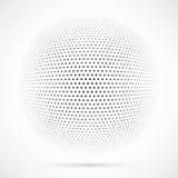 Weißer Halbtonbereich des Vektors 3D Punktierter kugelförmiger Hintergrund zeichen Stockfoto