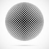 Weißer Halbtonbereich des Vektors 3D Punktierter kugelförmiger Hintergrund zeichen Lizenzfreie Stockfotos