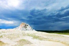 Weißer Hauben-Geysir Stockbild