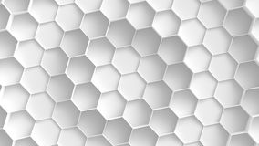 Weißer Hexagonhintergrund stockbilder