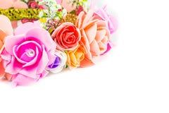 Weißer Hintergrund der Blume addieren eine Mitteilung Stockfotografie