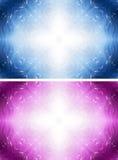 Fantasieweißer Querhintergrund mit Sternen Stockfotografie