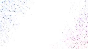 Weißer Hintergrund der globalen Kommunikation mit buntem Netz lizenzfreie abbildung