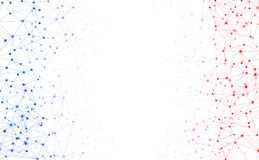 Weißer Hintergrund der globalen Kommunikation mit buntem Netz vektor abbildung