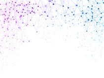 Weißer Hintergrund der globalen Kommunikation mit buntem Netz stock abbildung