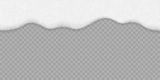 Weißer Hintergrund des Seifenblaseschaums Nahtloses Bier des Vektors, Shampoo- oder Meerwasser und Badschaumbeschaffenheit lizenzfreie abbildung