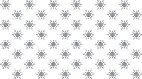 Weißer Hintergrund des Vektors mit Schneeflocken Nahtloses Muster vektor abbildung