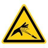 Weißer Hintergrund Haut-Durchbohren-Druckwasser-Jet Symbol Sign Isolate Ons, Vektor-Illustration stock abbildung