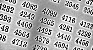 Weißer Hintergrund HDR mit vielen Zahlen Lizenzfreie Stockbilder