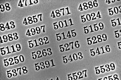 Weißer Hintergrund HDR mit vielen Zahlen Stockbild