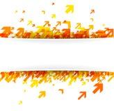 Weißer Hintergrund mit orange Pfeilen Lizenzfreies Stockfoto